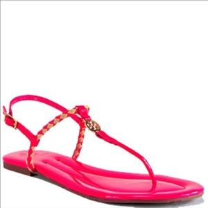 Tory Burch Aine Thong Sandals size 11 hot pink